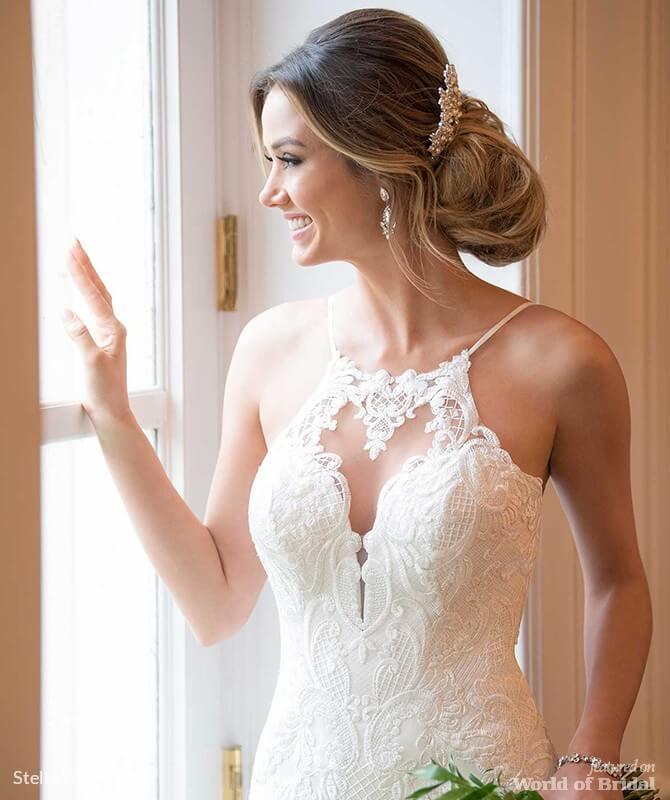 Real Brides Wearing Stella York: Stella York Fall 2018 Wedding Dresses