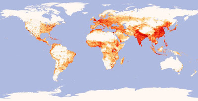 Coastal Population Density - World Map