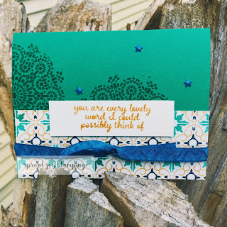 Moroccan Nights card with Emerald Envy by Spread Joy Stamping