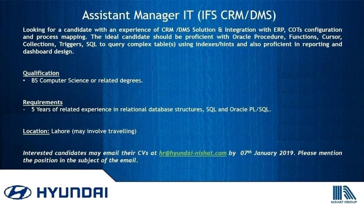 Job Opening in Hyundai Pakistan - Rozgarwala pk