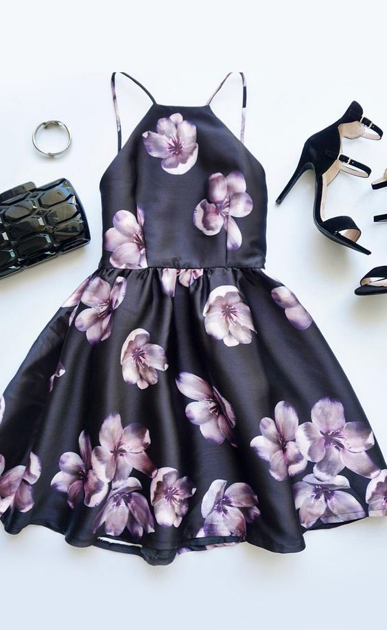 Floral Print Backless amzingly Beautiful Outfit