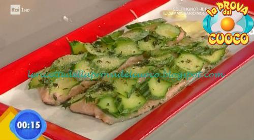 Filetti di trota salmonata in crosta di zucchine ricetta Ricchebono da Prova del Cuoco