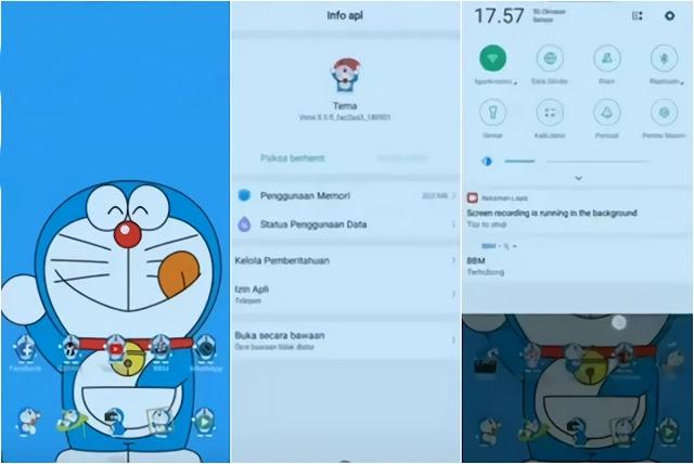 Tema Oppo Doraemon Lucu - Color OS 5.1
