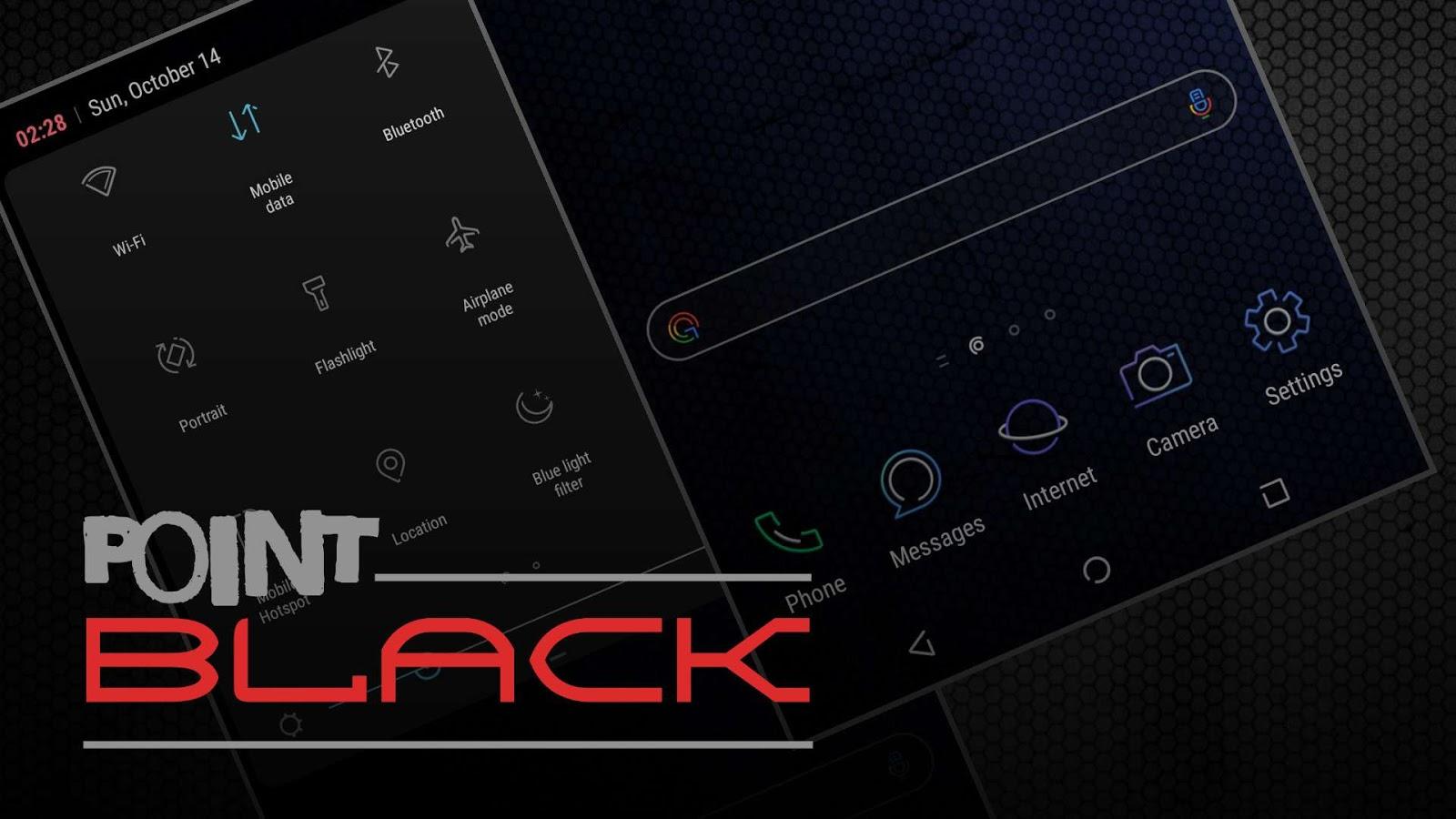 Point Black Theme | Samsung Oreo & Nougat Theme - Thobby Blog