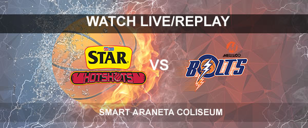 List of Replay Videos Star vs Meralco October 5, 2017 @ Smart Araneta Coliseum