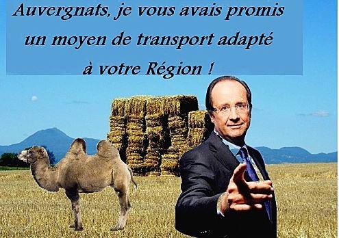 François Hollande en Auvergne