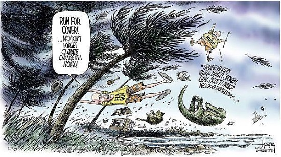 Toon of the Week: Run for Cover! ... And Don't Forget that Climate Change Is a Hoax!