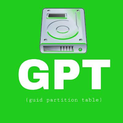 Pengertian GPT (GUID Partition Table)