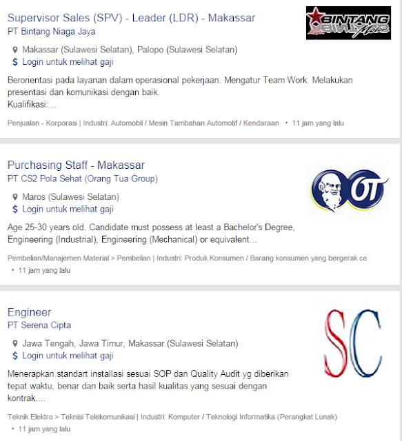 Loker Di Makassar Bulan Ini