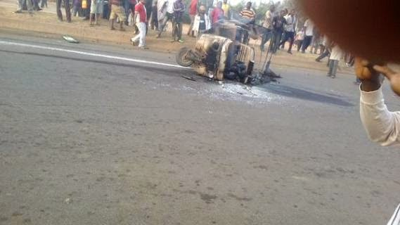 Keke Driver Burns To Death During Police Chase