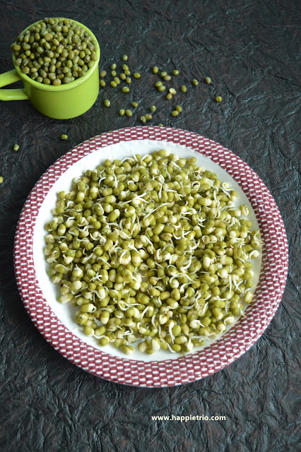 Green Gram Sprouts | Mung Bean Sprouts | How to sprout Green Gram