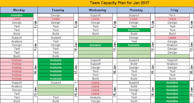 Monthly Excel Task Planner
