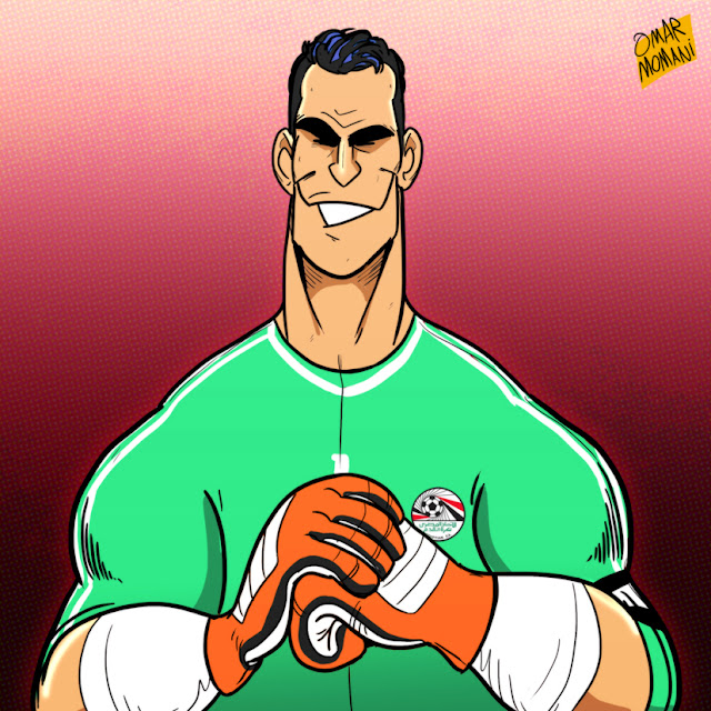 Essam El-Hadary cartoon