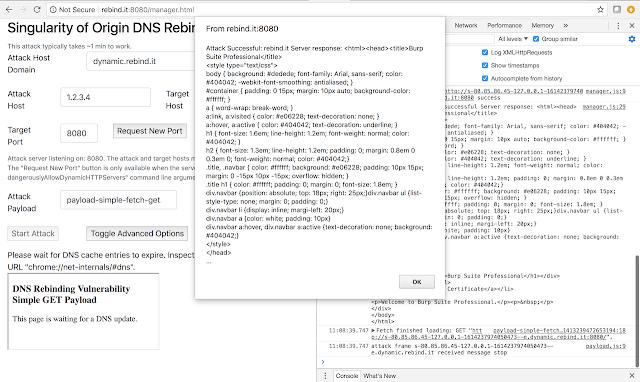 Singularity - A DNS Rebinding Attack Framework