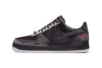 """size 40 b382e be80a One of Nike s most popular models, the Air Force 1, will soon be getting a  luxe upgrade, the upcoming """"Satin"""" iteration is constructed from a black  and dark ..."""