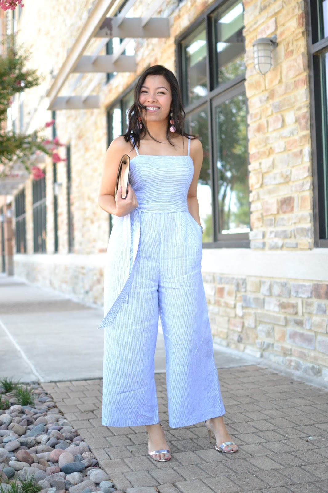 9f500f37409 Style and Cappuccino   Jump-suit for Joy  J.Crew Striped Linen ...