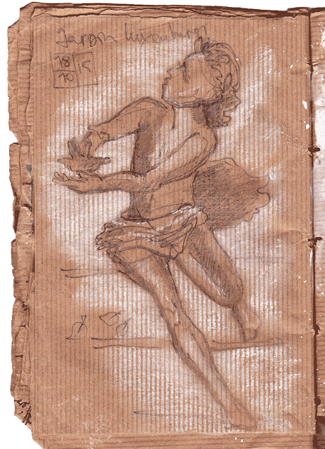Paris, Jardin du Luxembourg, Delacroix Sketch