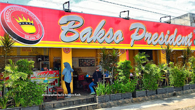 Foto banner Bakso President Malang yang unik dan lezat.