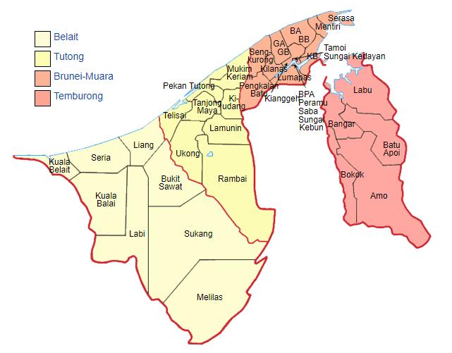 Distrik di negara Brunei Darussalam