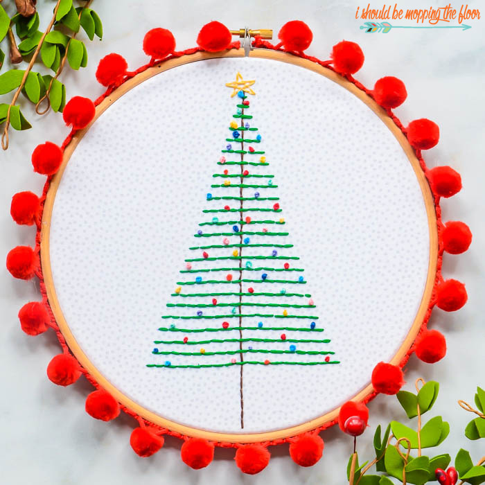Holiday Hoop Art