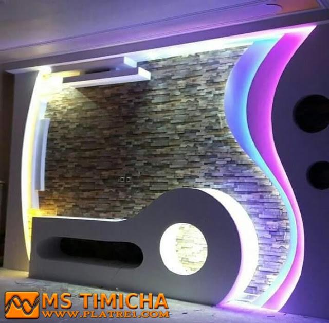 Décoration Platre Moderne Pour Plasma TV