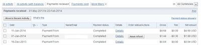 generate fake paypal transactions
