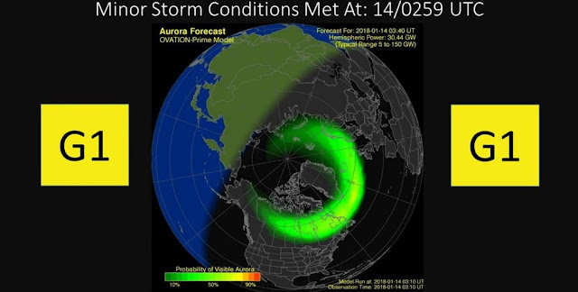 minor geomagnetic storm impacts earth