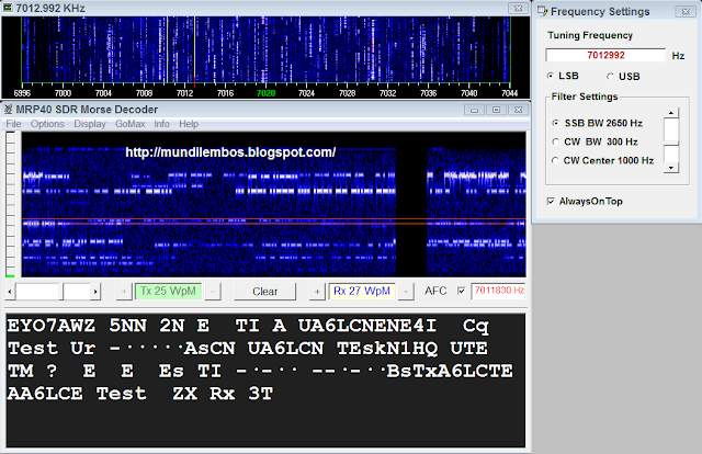 MRP40 Morse Code Decoder & Sender