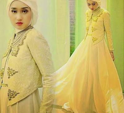 model kebaya brokat muslim terbaru