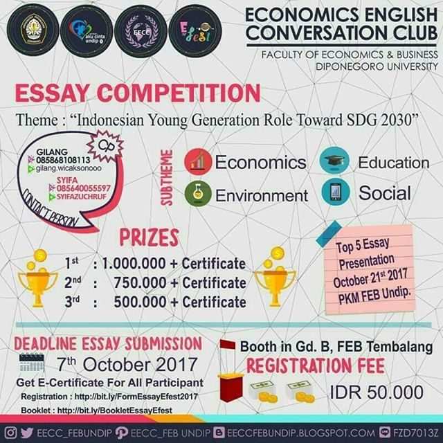 English Festival 2017 Essay and Speech Competition | Univ. Diponegoro | SMA Sederajat