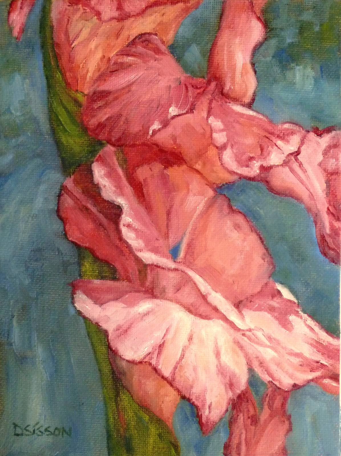 Daily Painting Projects: Lacy Gladiolus Oil Painting ...