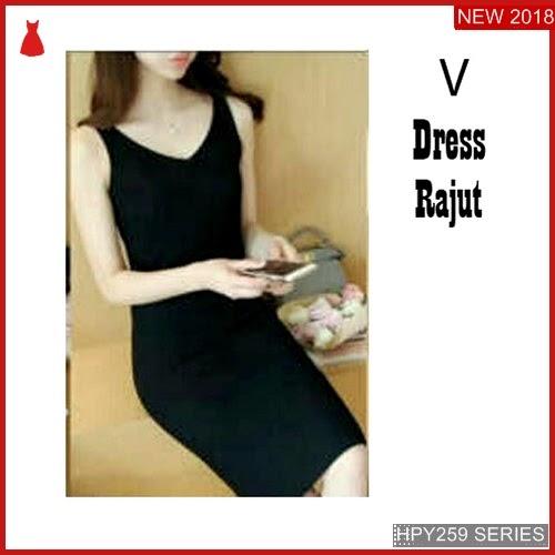 HPY259V65 V Dress Anak Rajut Murah BMGShop