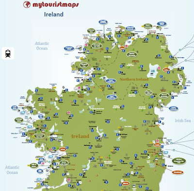 interactive travel tourist map IRELAND