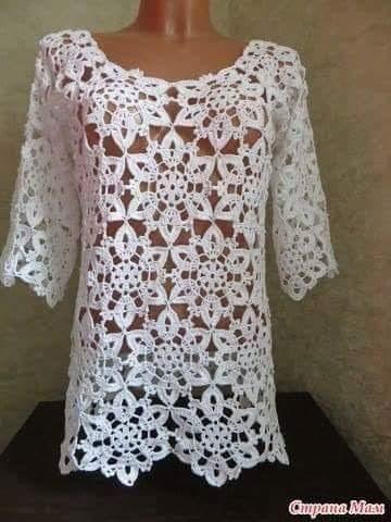 Katia Ribeiro Crochê Moda e Decoração - Crochê com Gráficos b22e2bdec1b