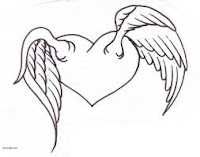 Heart with wings tattoo designs,freedom tattoo designs,love freedom tattoo designs