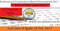 Professional Examination Board Recruitment 2017 – 227 Clerk Officer