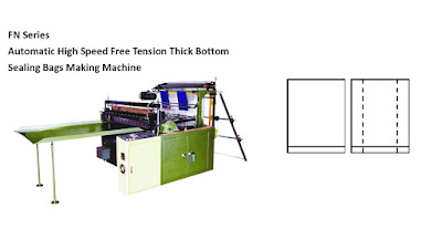 Free Tension Thick Bottom Sealing Bags Making Machine