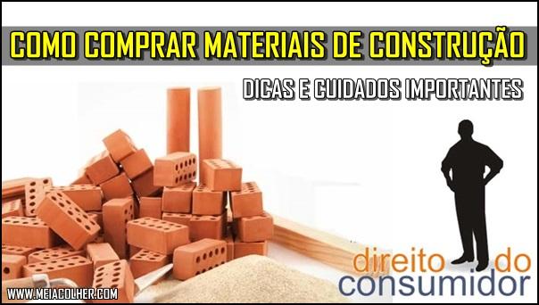 como e onde comprar material de construção