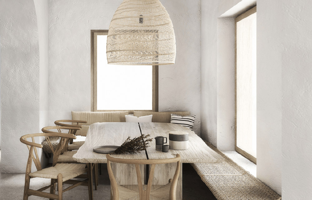sala da pranzo in stile scandinavo