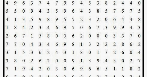 Free printable Word Search and Sudokus: Number Search Puzzle 8
