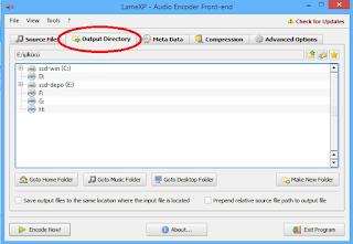 LameXp Audio Encoder-OutputFolder Çıktı Dosyası