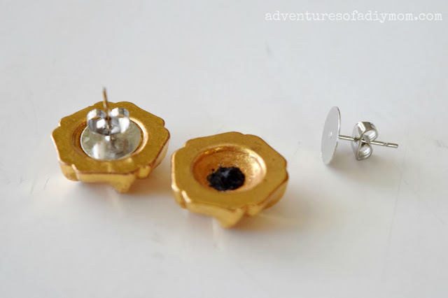 How to Make Vintage Button Earrings
