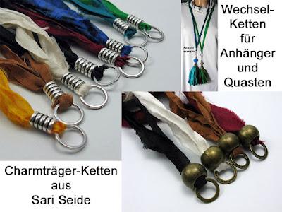 Charmträgerketten aus Seide