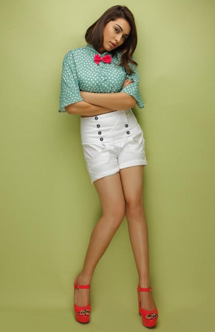 Tamil Actress Hansika Motwani Hot In Mini White Short