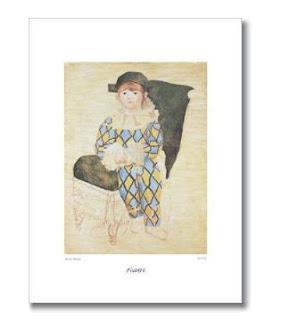 Paul en Arlequin - poster - Pablo Picasso