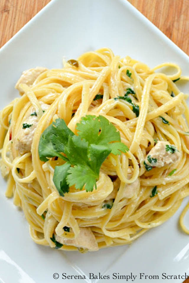 Jalapeno Lime Chicken Alfredo by serenabakessimplyfromscratch.com