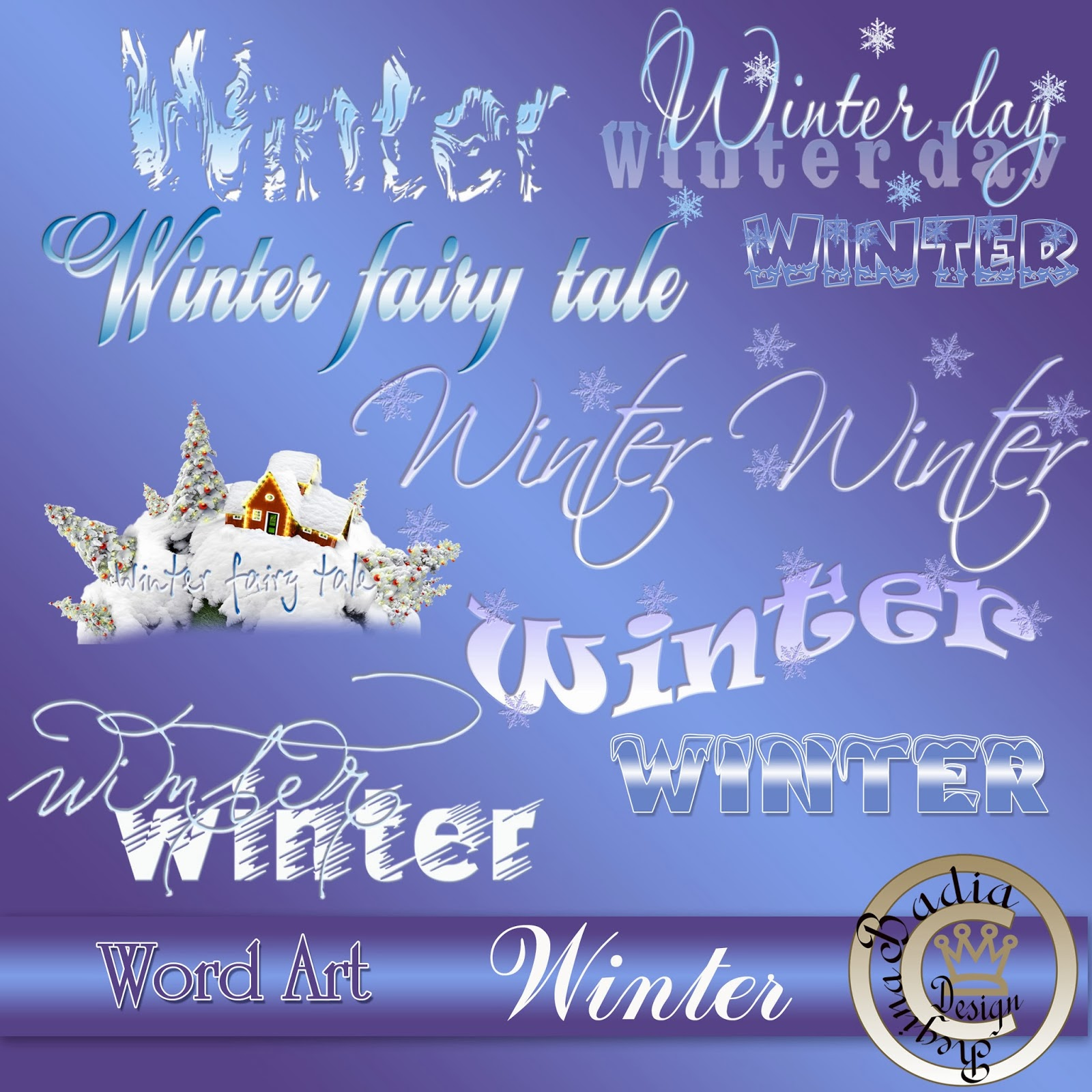 дизайн фотокниг Word Art Winter новый год глазами