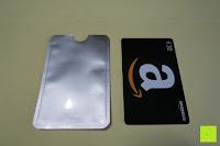 Hülle und Karte: eBoot RFID Schutzhülle für Reisepass und Kreditkarte, 12 Stück