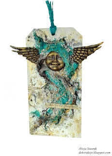 tattered angels tag mixed media