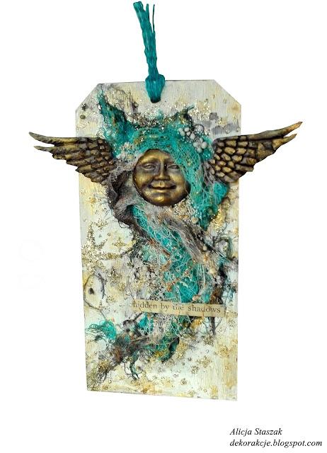 tattered angels tag mixed media